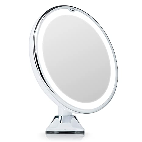 premium selection b017f bb6e2 Fancii 7X Magnifying Lighted Vanity Makeup Mirror with 20 Natural LED Ring  Lights, Locking Suction Cup, Cordless Travel Cosmetic Mirror - Maya 7