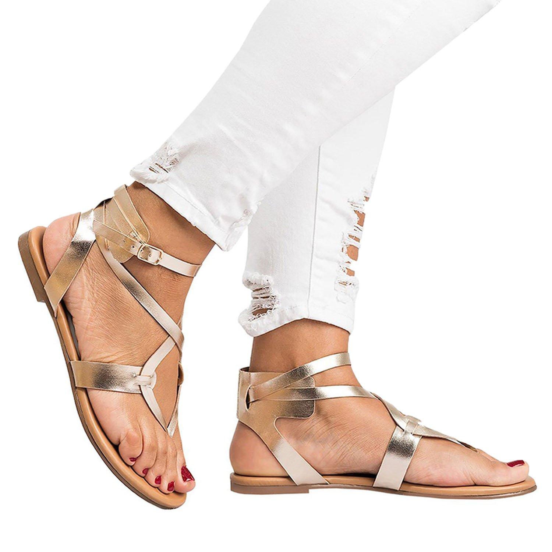 50ac9b0fc72884 Romantic Romantic Romantic moments New Arrive Women Gladiator Sandals  Summer Women Shoes Plus Size 35-43 Flats Sandals B07DLT7LHD 8 B(M)  US