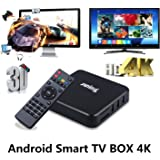 Juning Smart TV BOX 4K, 1G di RAM + ROM S805 8G quad-core CPU, WiFi con HD Musica, Film, lettore multimediale in streaming Android, è possibile scaricare l'applicazione, godere ad alta definizione Internet World