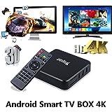 Juning Smart Android TV BOX, S805 Quad Core CPU 1GB+8GB 2GHz Ultra HD WIFI TV BOX Support 4K * 2K zum Genießen Sie High-Definition-Internet World