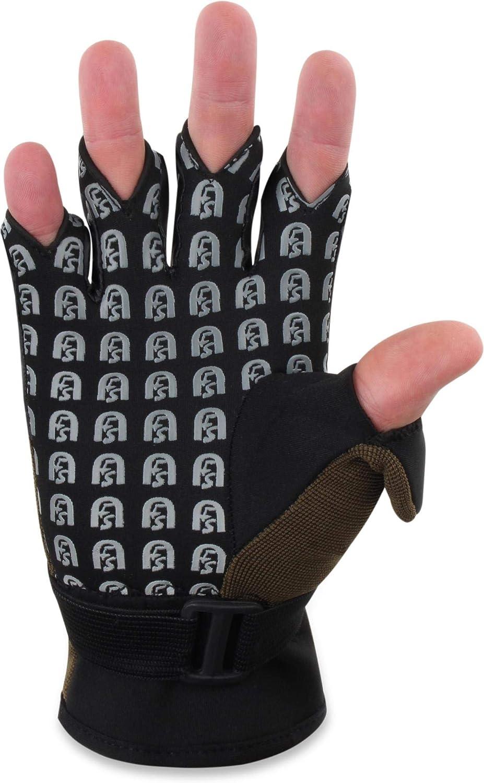normani Fishing Sports Flexibler Anglerhandschuhe aus 3 mm Neopren und atmungsatkivem MESH-Gewebe alle 5 Fingerkuppen sind umklappbar S-4XL