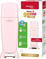 Playtex Baby Diaper Genie Elite Diaper Pail System with Front Tilt Pail for Easy Diaper Disposal, Pink