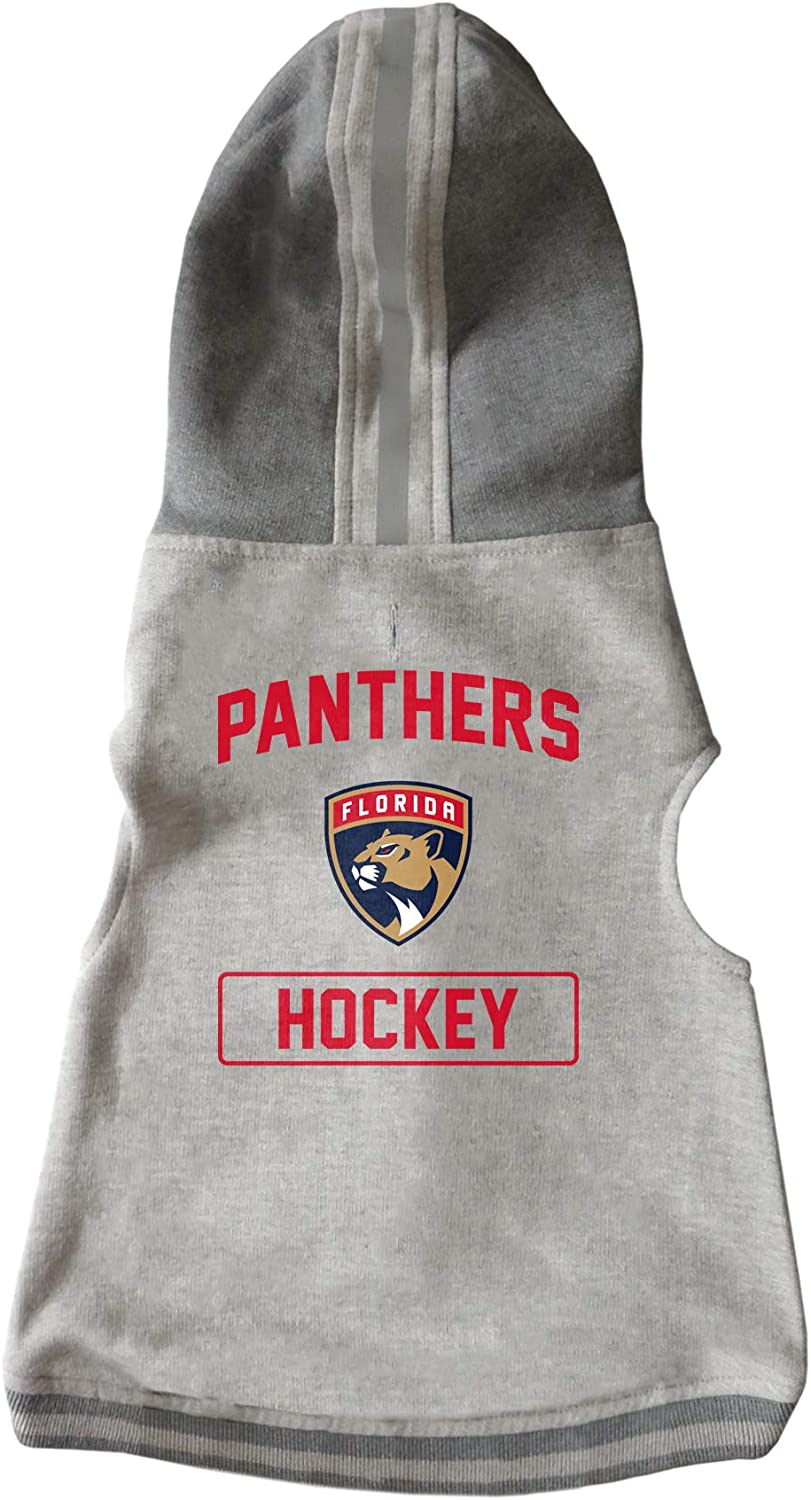 Littlearth NHL Florida Panthers Pet Hooded Crewneck Extra Small