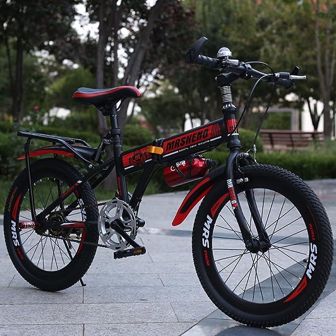 YEARLY Bicicleta plegable infantil, Bicicleta plegable estudiante Los niños de bicicleta plegable Ultra ligh Bicicleta de montaña Niños y niñas Bicicleta ...