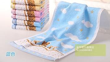 A. HPink/azul/amarillo Lovely Bear patrón bebé Kid baño mano toallas de