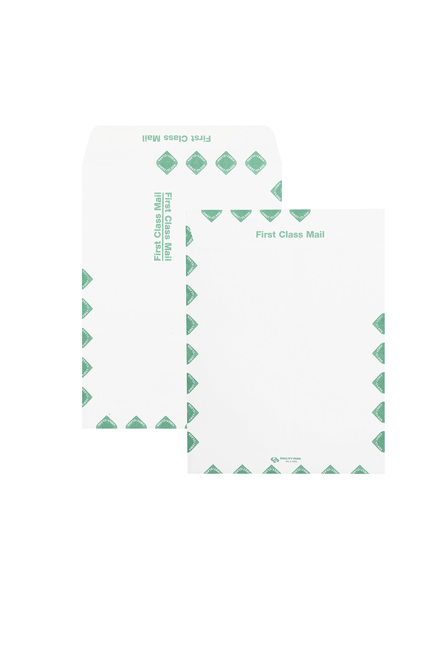 Quality Park Catalog Envelopes, Redi-Seal, First Class Border, 10 x 13-Inches, White, Box of 100 (54395)