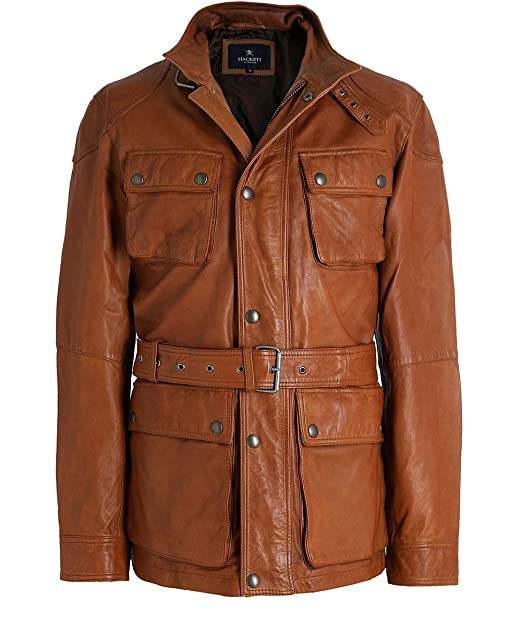 Chaqueta Hackett de Cuero Moto - Color - Marron, Talla - L ...
