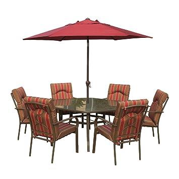 Royalcraft Amalfi - Juego de muebles de jardín metálicos con mesa ...