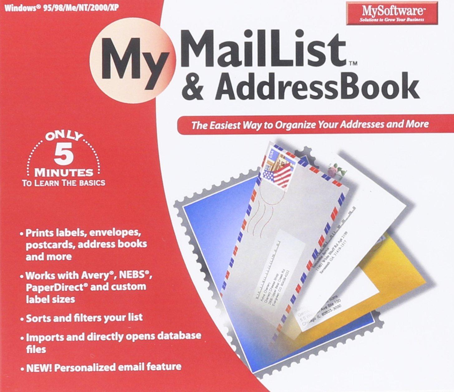 MySoftware Company My MailList & AddressBook by MySoftware Company