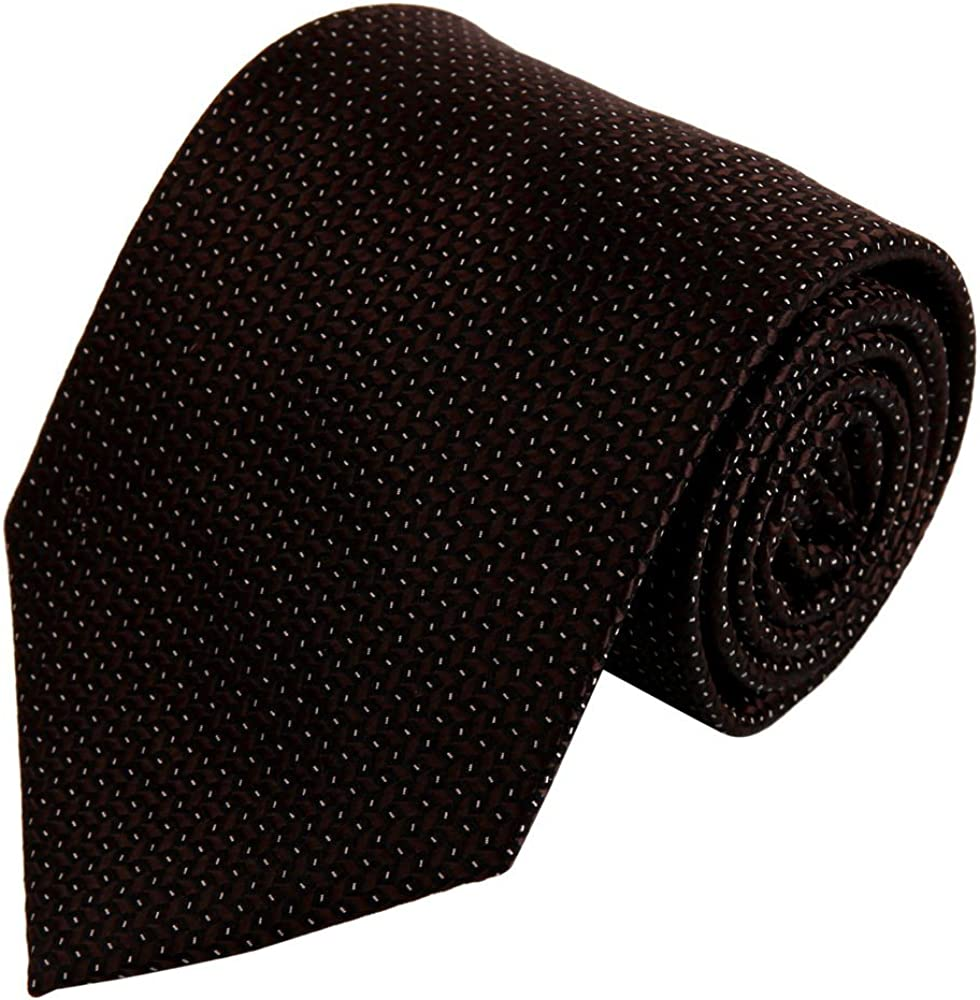 Brown Designer Ties Men Brown Patterned Woven Silk Tie Set necktie Set FAA1010
