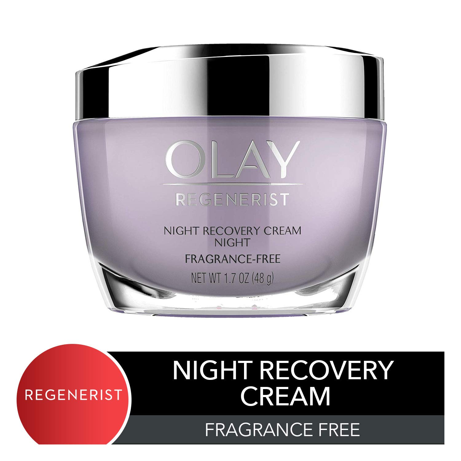 Night Cream by Olay, Regenerist Night Recovery Anti-Aging Face Moisturizer with Vitamin E, 1.7 oz by Olay