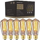 Edison Light Bulbs 25W - Thomas Edison Light Bulb Style - Clear Glass Incandescent Vintage Antique Bulb for Home Light Fixtur