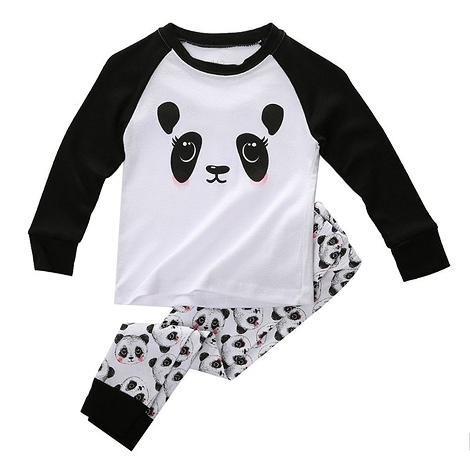Boys Girls Pajama Set - TOOGOO(R)Cute Panda Baby Toddler Kids Boys Girls Sleepwear Nightwear Pajama Set 7t 069178A6