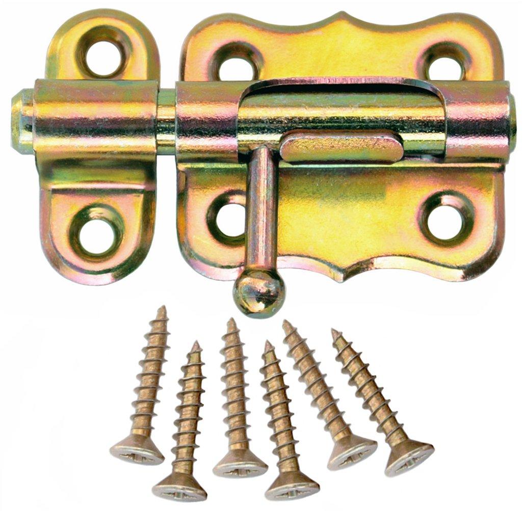 Bolzenriegel T/ürriegel Schlossriegel M/öbelriegel Schubriegel 30 mm Silber Verzinkt