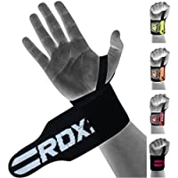 RDX Weight Lifting Wrist Support Wraps with Thumb Loop | Elasticated Straps for Crossfit, Strength Training, Powerlifting, Bodybuilding, Gymnastics, Workout and Xfit Exercise