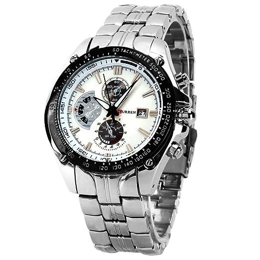 CURREN Wishar de alto grado de venta de relojes de cuarzo reloj de pulsera para hombre de tres de seis pines falsos de reloj de pulsera para mujer: ...