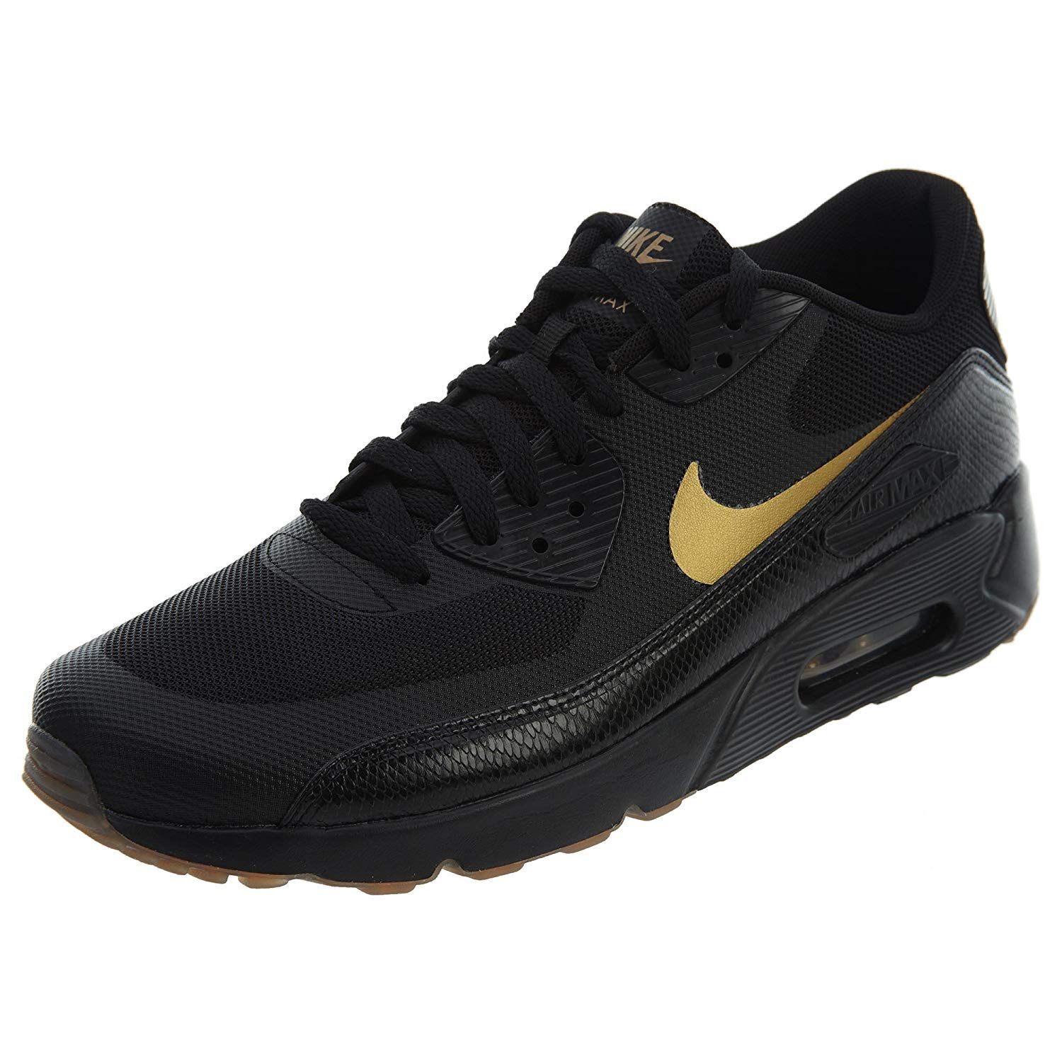 Nike Men's Air Max 90 Essential Low Top Sneakers (11 M US, BlackMetallic Gold)