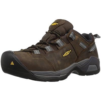 KEEN Utility Men's Detroit XT Low Steel Toe ESD Work Shoe, Cascade Brown/Gargoyle | Boots