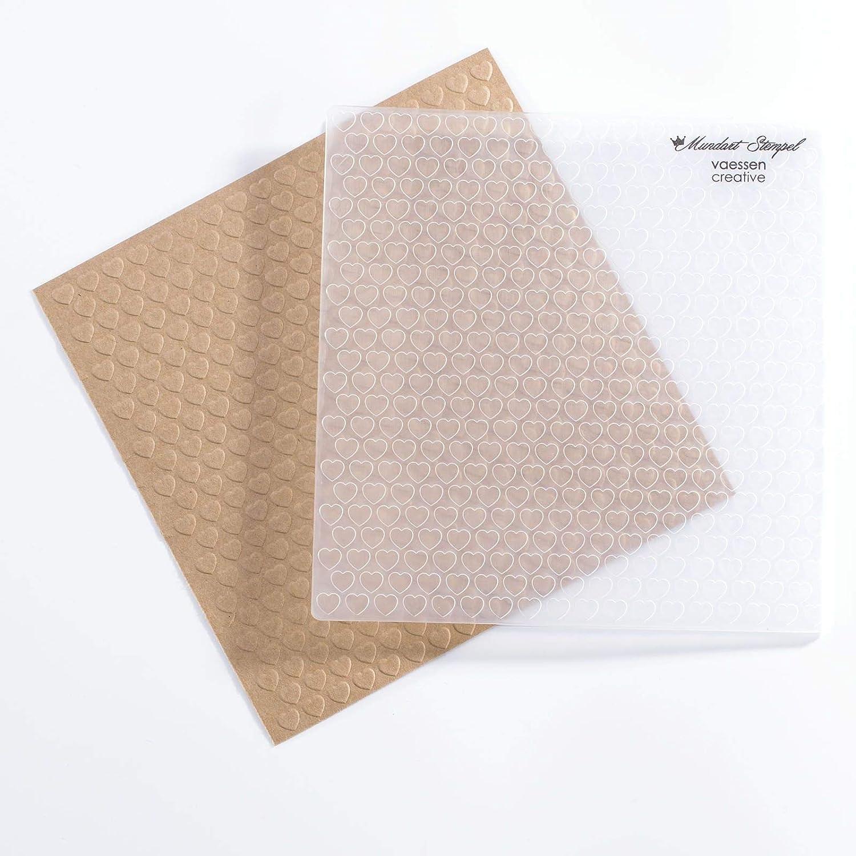 Muster und Hintergr/ünde auf Karten oder Scrapbook-Seiten Vaessen Creative Pr/ägeschablone Folder Alles Gute Zum Hinzuf/ügen von Strukturen