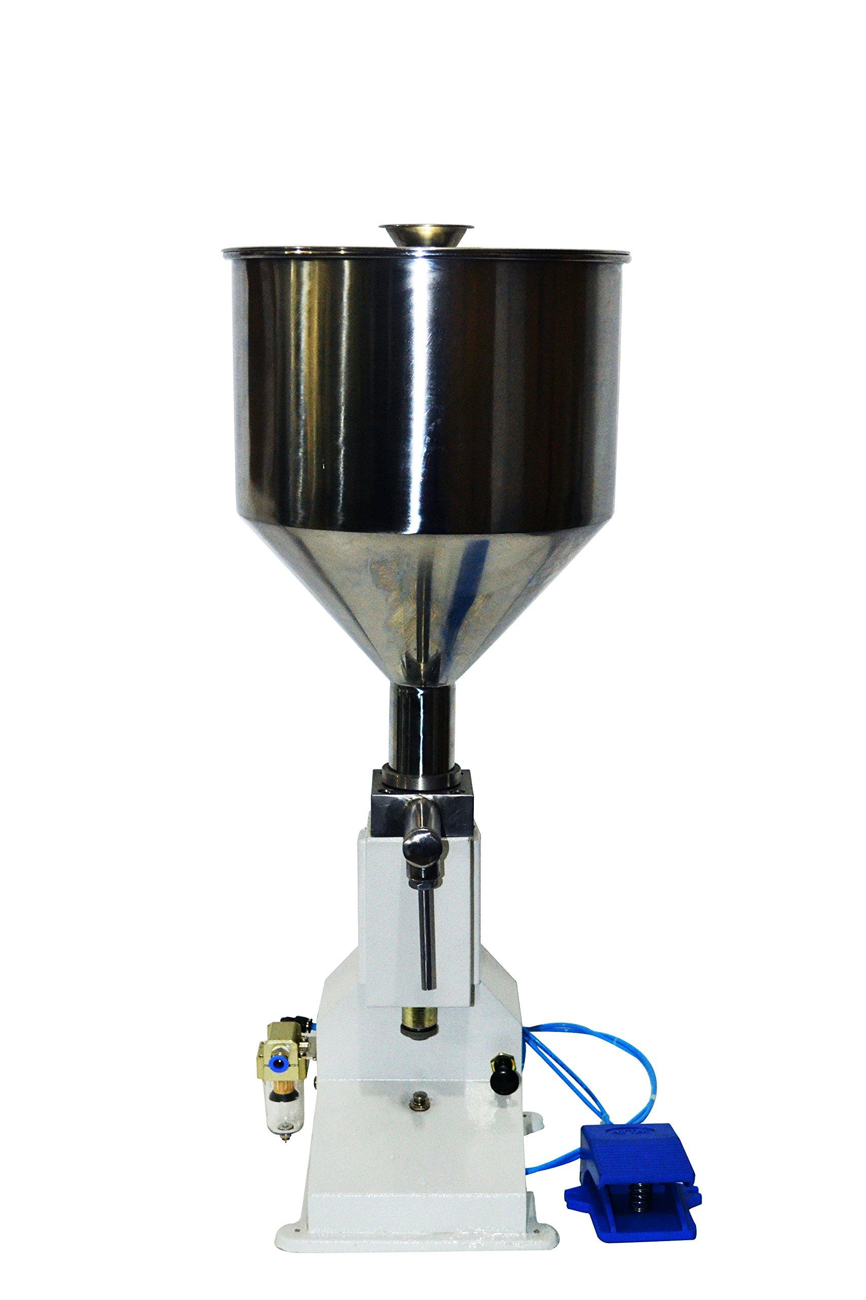 A02 Pneumatic Liquid Paste Filling Machine 5~50ml Liquid Filling Machine for Cream Shampoo Cosmetic(A02)