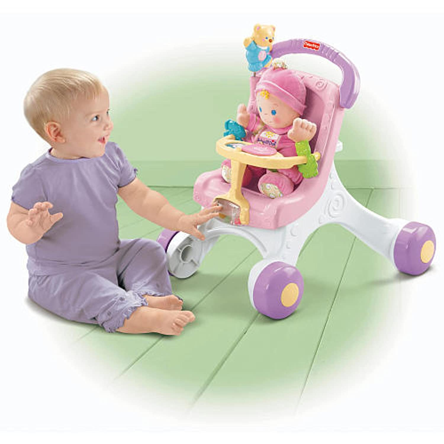 Amazon.com: Fisher-Price Brilliant Basics stroll-along ...