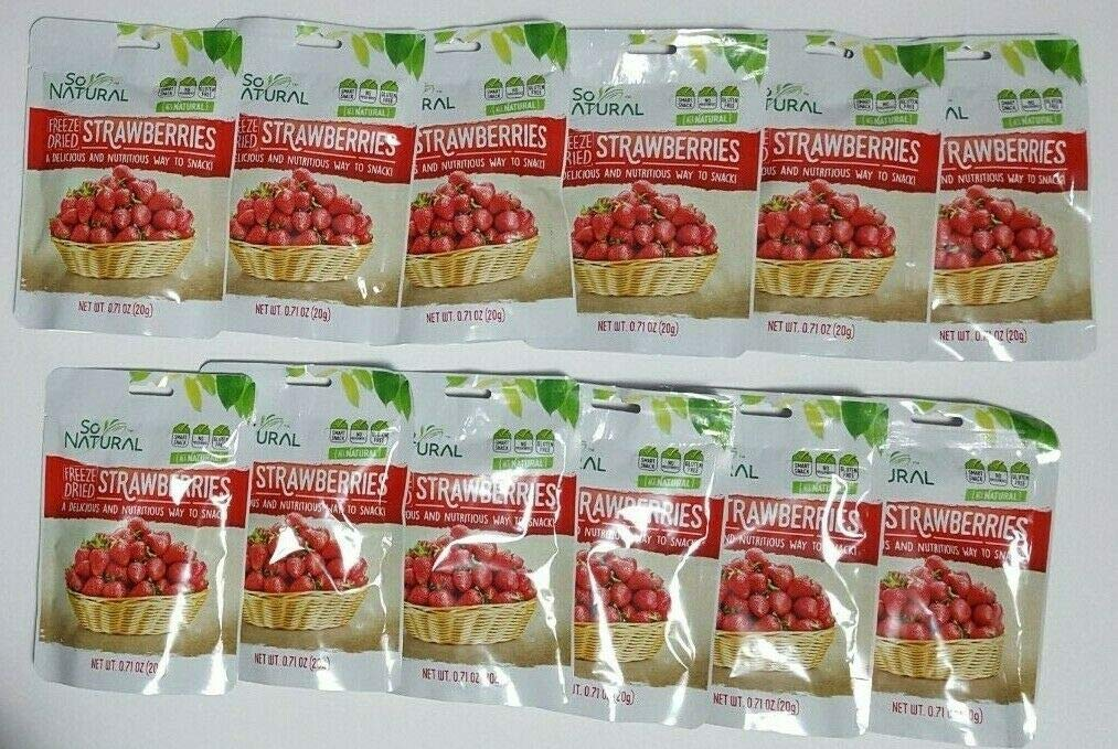 So Natural Freeze Dried Strawberries (Strawberry, 6 Pack)
