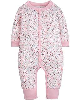 Kidsform Baby Unisex Print Overalls Langarm Jumpsuit Playsuits Strampler Pyjama Kleidung
