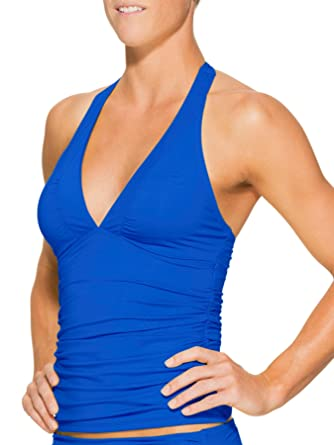 78e7f19ee21d0 Amazon.com: Athleta Womens Shirrendipity Halter Tankini XS: Clothing