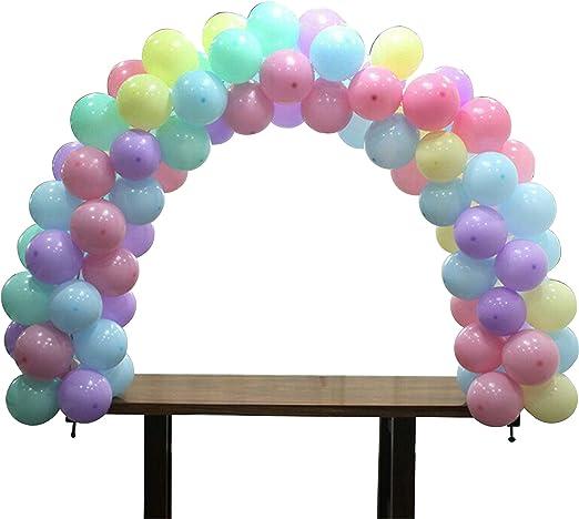 Amazon.com: SKOLOO Kit de arco de globo de mesa, soporte ...