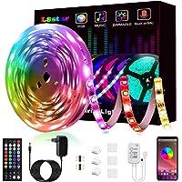 L8star Tira de luces LED con cambio de color, RGB, flexible, con control Bluetooth, sincronización de música, aplicación…