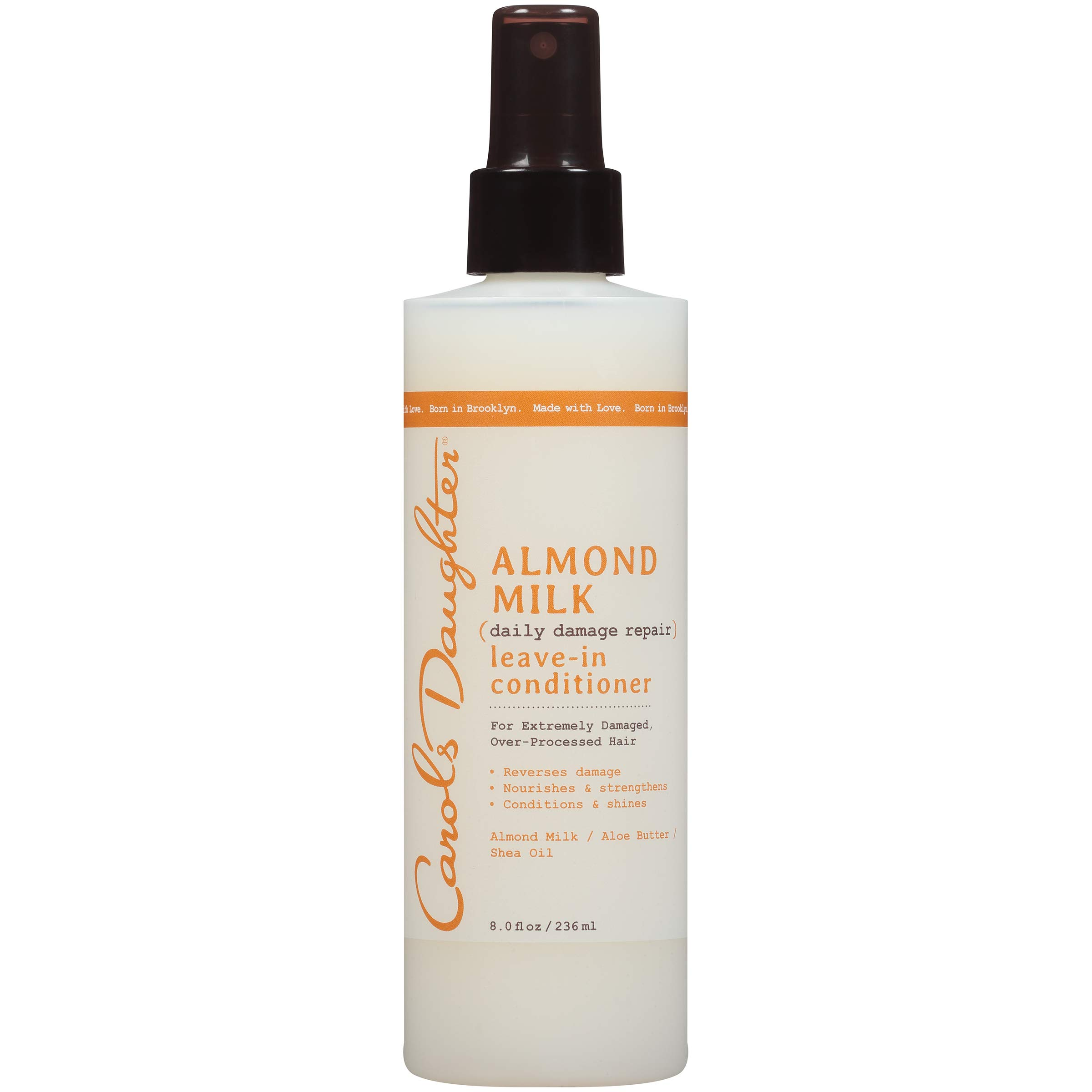 Carol's Daughter Almond Milk Leave In Conditioner with Almond Milk, Aloe Butter and Shea Oil for Extremely Damaged Hair, 8 fl oz