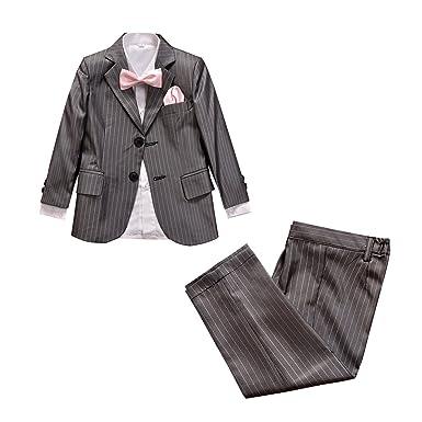 Amazon.com: Meisa City - Traje de estilo rayado gris para ...