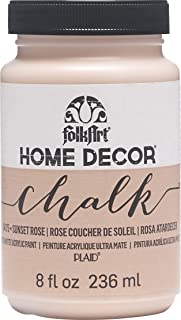 product image for FolkArt Home Decor Chalk Furniture & Craft Paint in Assorted Colors, 8 ounce, Sunset Rose