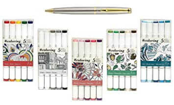 art alternatives coloring professional alcohol based coloring markers 5 color sets ideal
