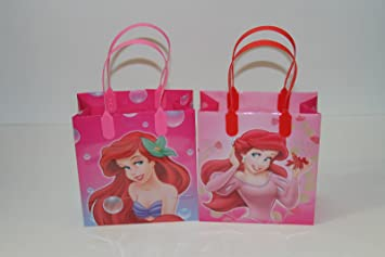 Amazon.com: 24PC DISNEY ARIEL LITTLE MERMAID GOODIE BAGS PARTY ...