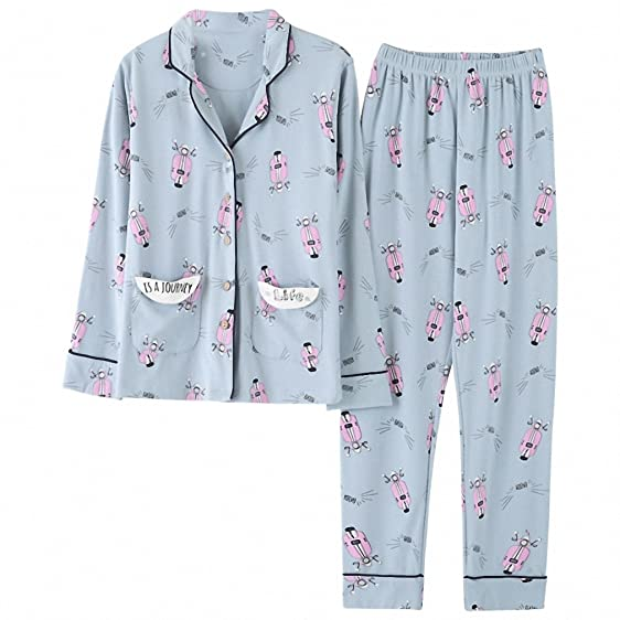 Gadpat Drop Shipping Casual Cotton Pajama Set Women Autumn Winter Long Sleeve Sleepwear Pajamas Nightwear Lounge