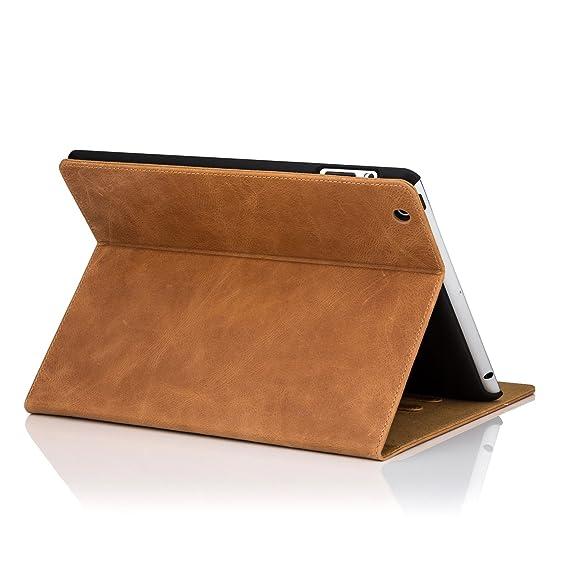 32nd Premium Series - Funda Tipo Libro de Piel Real para Apple iPad Pro 12.9 Pulgadas (2015), Flip Carcasa de Cuero Premium diseñada con Cartera, ...