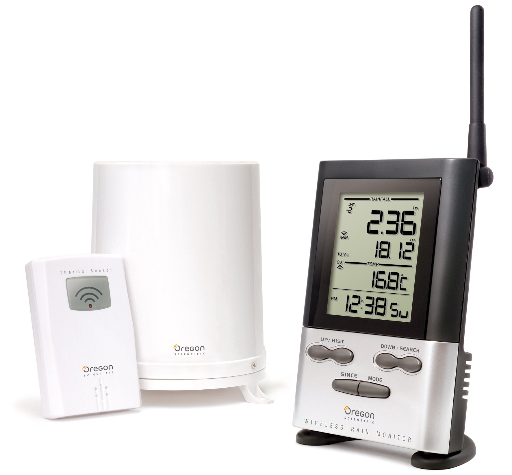 Oregon Scientific Wireless Rain Gauge Weather Station with Remote Sensor - Temperature Readings by Oregon Scientific
