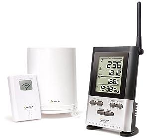 Oregon Scientific Wireless Rain Gauge Weather Station with Remote Sensor - Temperature Readings