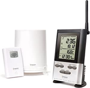 Oregon Scientific RGR126N Wireless Rain Gauge Weather Station with Thermometer