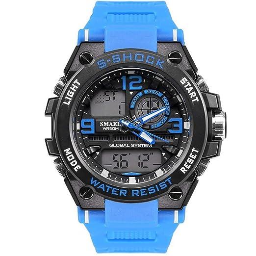 AnazoZ Relojes Electronicos Reloj Hombre Moda Reloj Hombre Reloj Deportivo Reloj Impermeable Reloj Quartz Verde: Amazon.es: Relojes