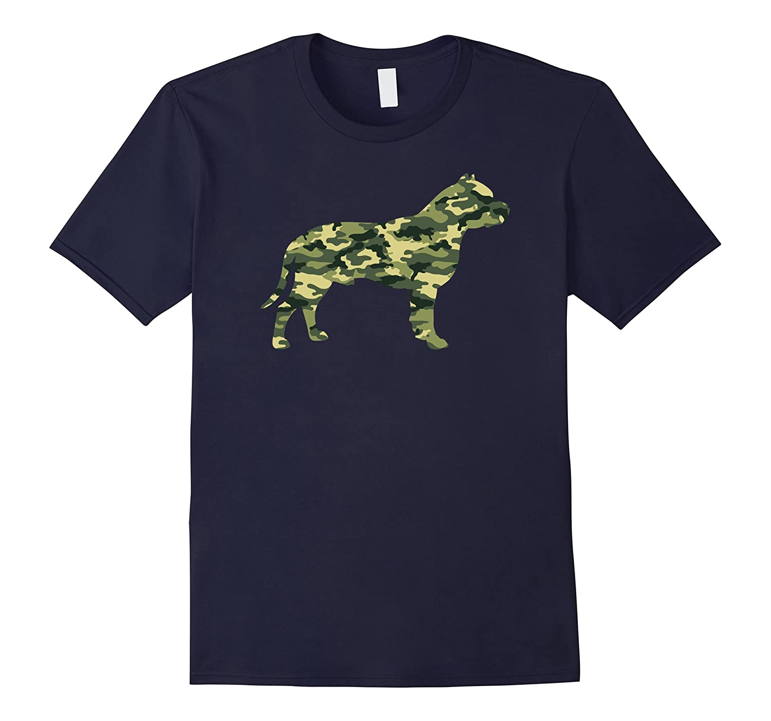 Camouflage STAFFORDSHIRE TERRIER Military Army T-shirt-Art