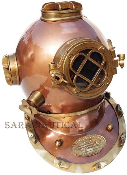 Diving Helmets Able Vintage 18 Inch Diving Helmet With Wooden Base Us Navy Mark V Divers Helmet