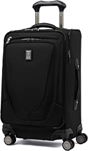 Travelpro Crew 11-Softside Expandable Luggage with Spinner Wheels, Black, Carry-On 19-Inch