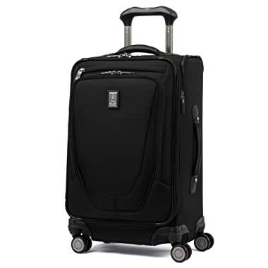 Travelpro Luggage Crew 11 21  Carry-on Expandable Spinner w/Suiter and USB Port, Black
