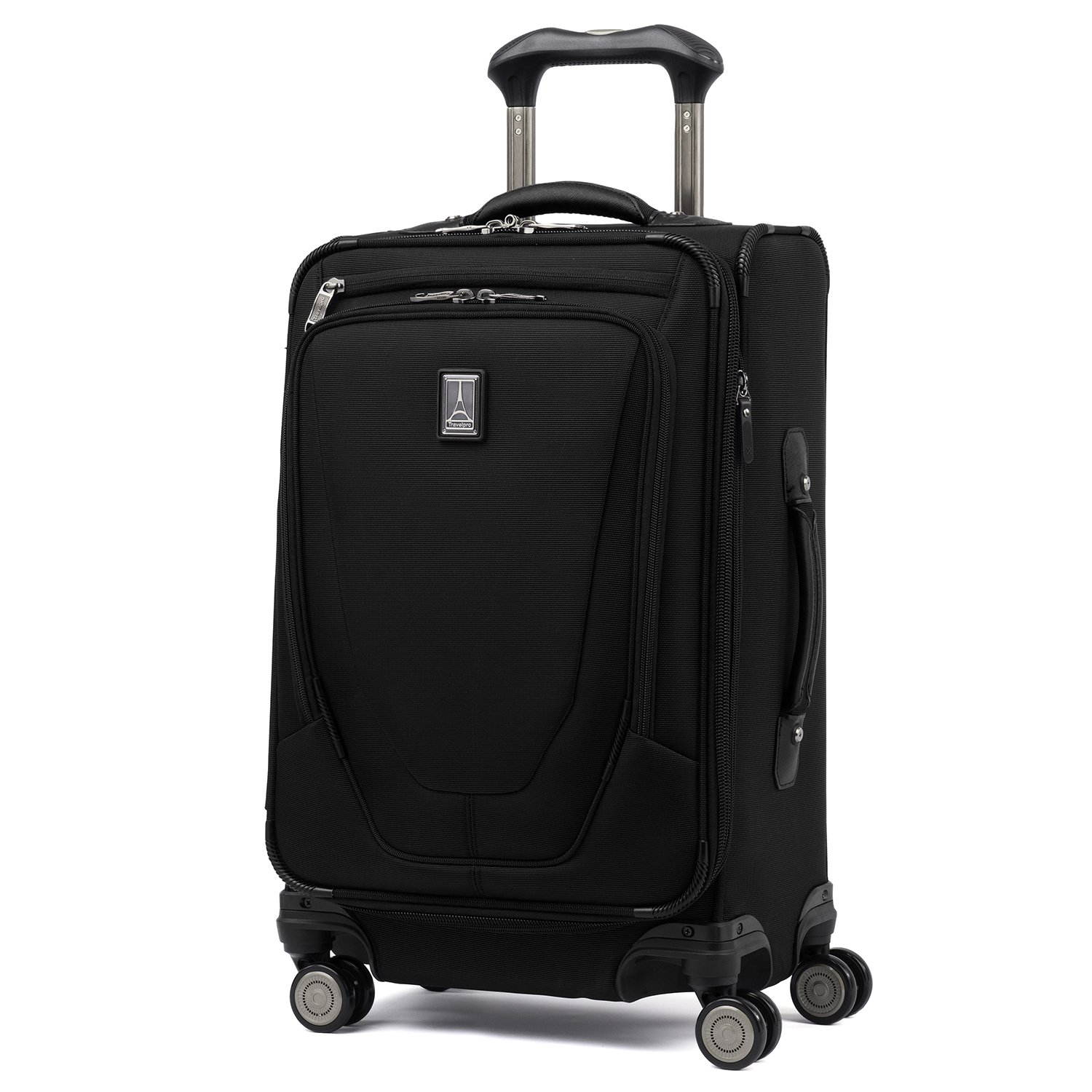 Travelpro Luggage Crew 11 21'' Carry-on Expandable Spinner w/Suiter and USB Port, Black