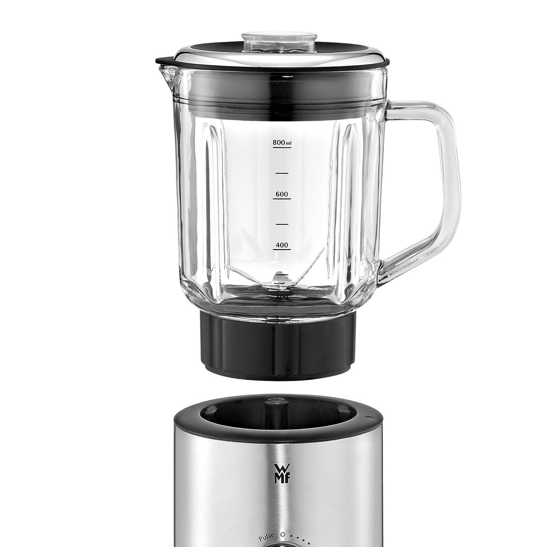 WMF Batidora Kitchenminis - Batidora de vaso 400 W con 6 cuchillas de acero inoxidable con 5 velocidades y recipiente de vidrio transparente, ...