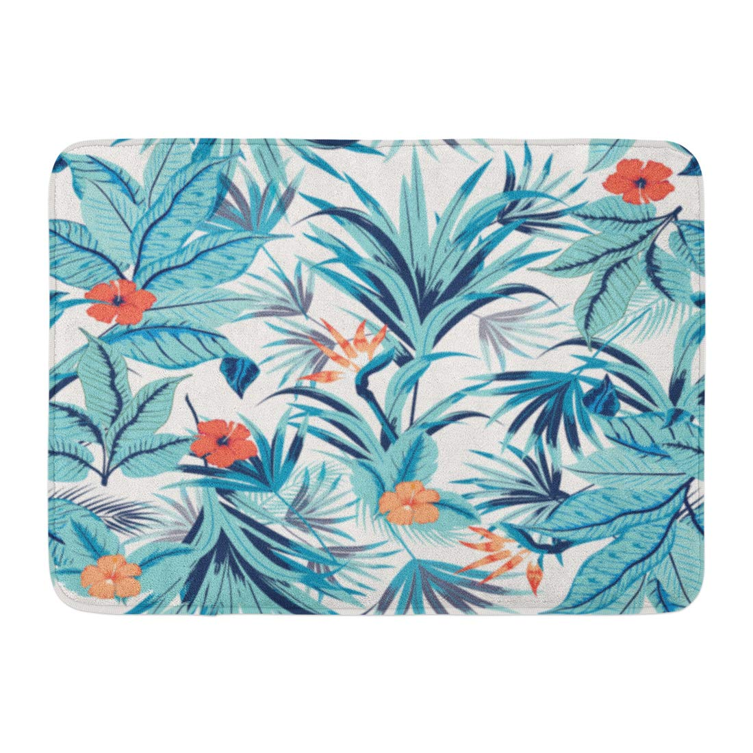 Emvency Doormats Bath Rugs Outdoor//Indoor Door Mat Bird Floral Pattern Hummingbirds Tropical Japanese Flowers Butterflies Butterfly Bathroom Decor Rug Bath Mat 16 x 24