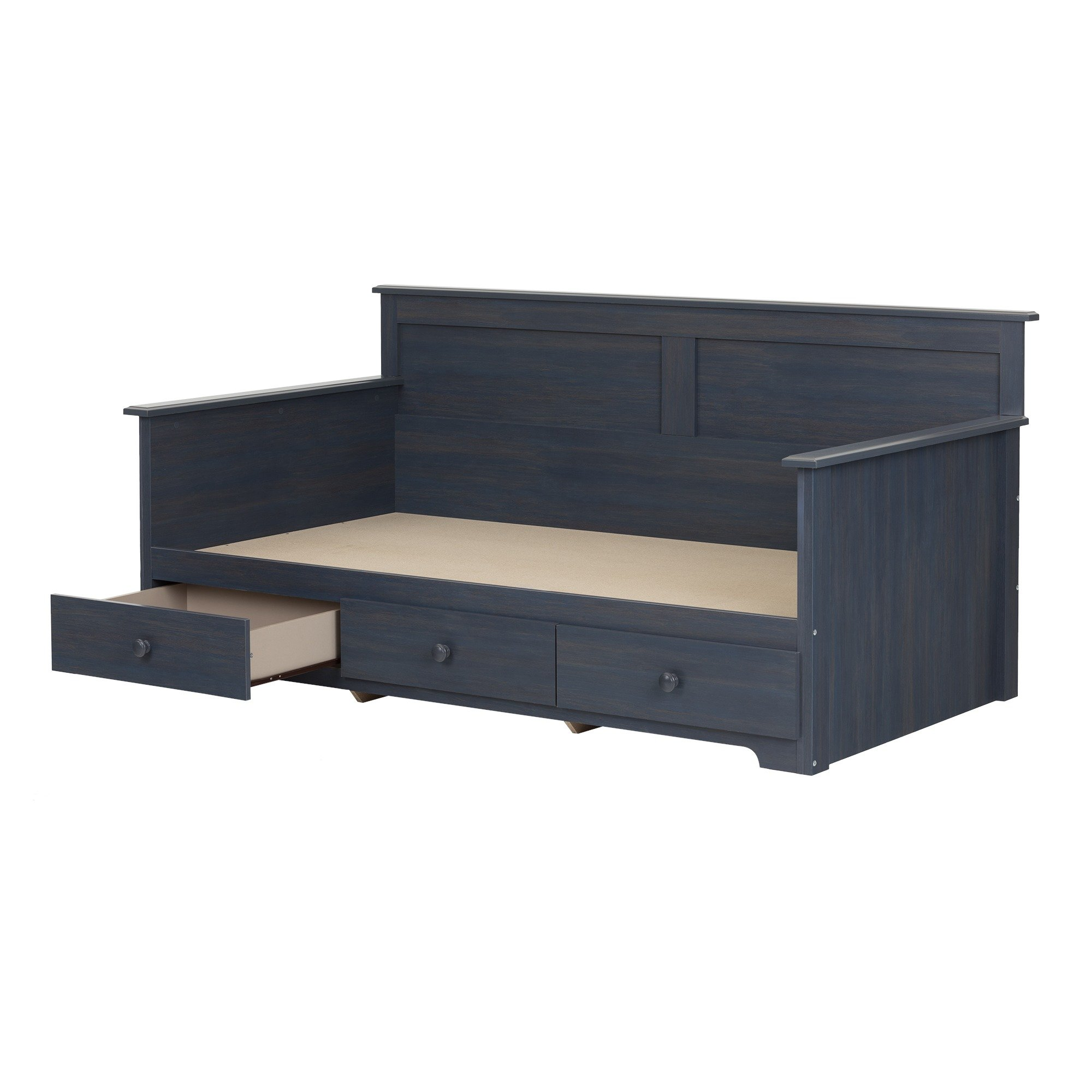 South Shore Summer Breeze Daybed with Storage (39''), Twin, Blueberry