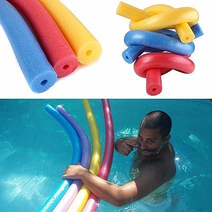 Poolnudel Schwimmnudeln ,COLORFUL Pool Float Sticks EPE Tupfer Swim Sticks  Kinder Spielzeug hohle Schwimmen Sticks ,150x6.5 cm (Blau)